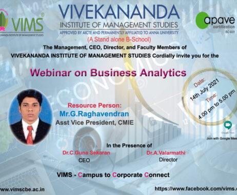 Webinar on Business Analytics 1
